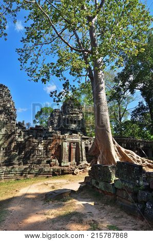 Bantey Khde Temple In Angkor Wat, Cambodia