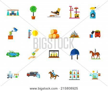 Farmland icon set. Can be used for topics like country, ranch, planting, agriculture