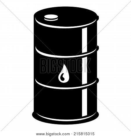 Barrel oil icon. Simple illustration of barrel oil vector icon for web