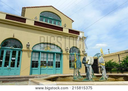 NEW ORLEANS - MAY. 29, 2017: New Orleans Jazz National Historical Park in French Quarter in New Orleans, Louisiana, USA.