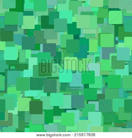 Seamless chaotic square background pattern - vector illustration from squares in green tones with shadow effect