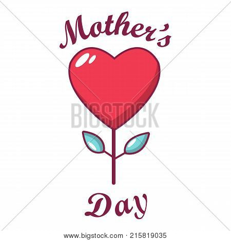 Mom day icon. Cartoon illustration of mom day vector icon for web