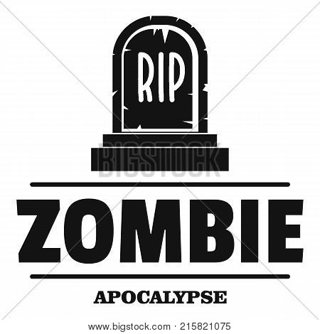 Zombie death logo. Simple illustration of zombie death vector logo for web