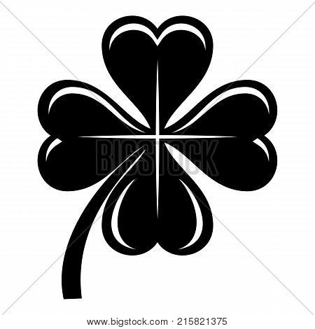 Four leaf clover icon. Simple illustration of four leaf clover vector icon for web