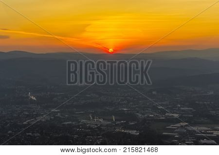 a view of the city of Liberec and Czech lands