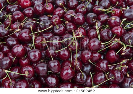 Sweet Cherries Background