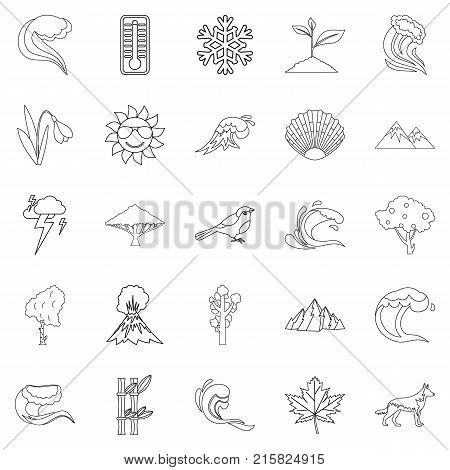 Environ icons set. Outline set of 25 environ vector icons for web isolated on white background