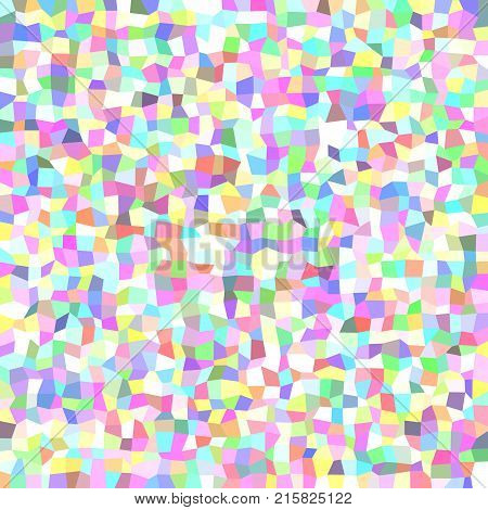 Abstract geometrical irregular rectangle mosaic background - polygonal vector graphic design from rectangles in colorful tones