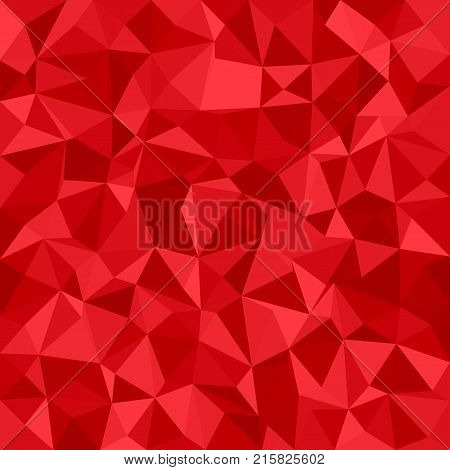 Geometric irregular triangle mosaic background - polygonal vector illustration from triangles in red tones