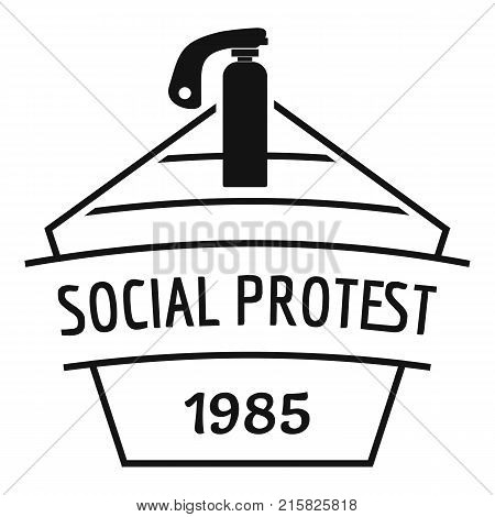 Social protest riot logo. Simple illustration of social protest riot vector logo for web