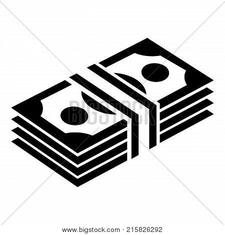 Bundle note icon. Simple illustration of bundle note vector icon for web