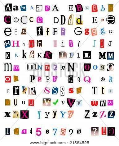 Cut And Torn Out  Font