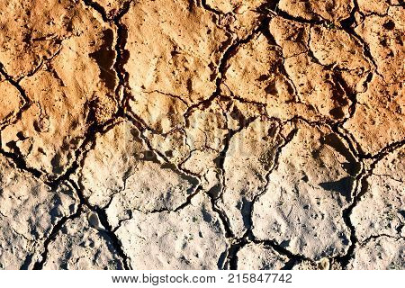 Dried Cracked Mud Drought Background