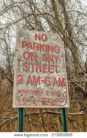 Street parking is limited from 2 am - 6 am November 1 - April 1 by local ordinance