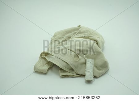 Tank Top Needle and thread on white background sufficiency economic concept