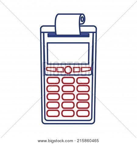 Dataphone of shopping commerce and market theme Isolated design Vector illustration