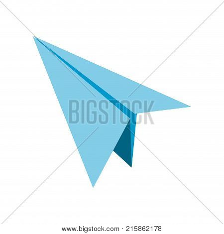 Paperplane of paper plane and airplane theme Isolated design Vector illustration