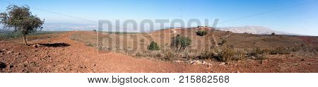 Hermon Mountain Panorama In Israel