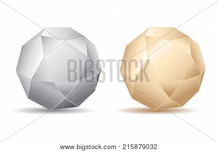 Abstract Modern Gold / Silver Sphere - Vector Illustration