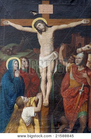12th Stations of the Cross, Jesus dies on the cross poster