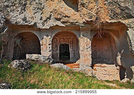 Matera, Basilicata, Italy: the ancient rock church