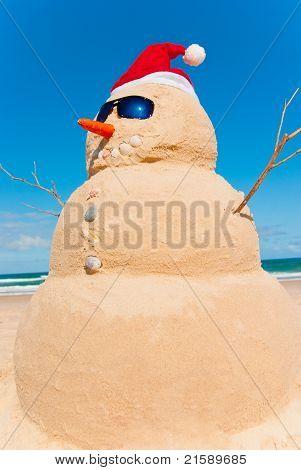 Sandman With Sunnies And Santa Hat