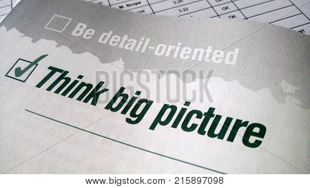 Think Big Picture