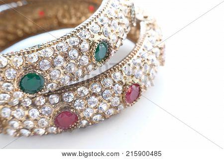 Gold bangles, Indian Women Bangles- close up