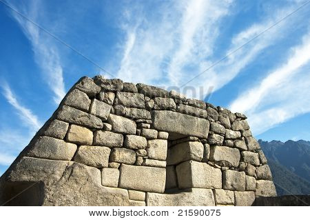 Peru Ruins And Clouds