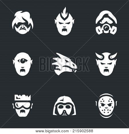 Troll, orc, stalker, cyclope, dragon, demon, cyborg, alien, maniac.