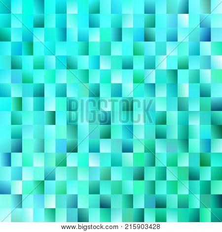 Geometrical mosaic rectangle background - modern vector design from light blue gradient rectangles