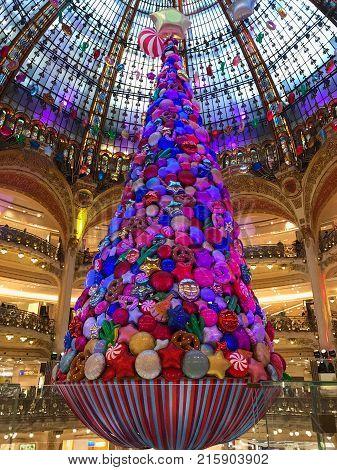 Galeries Lafayette Paris Christmas Tree Decoration
