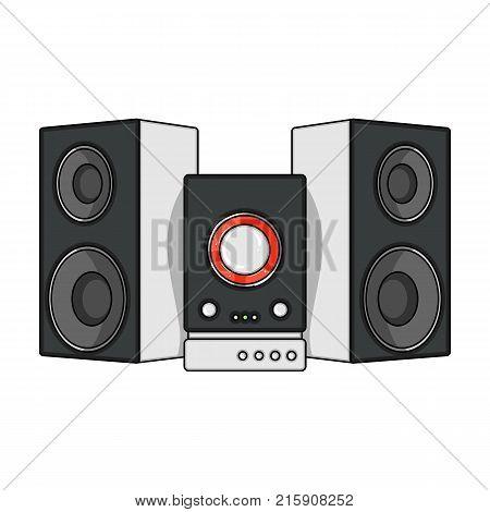 Musical, center, single icon in cartoon style.Musical, center, vector symbol stock illustration .