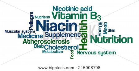 Word Cloud On A White Background - Niacin