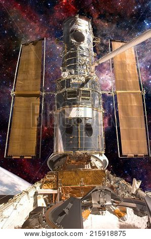 The Hubble Space Telescope. Elements Of This Image Furnished By Nasa.