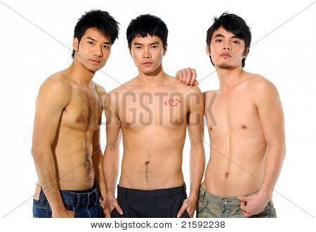 Three Sexy muscular man