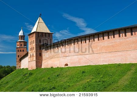 Tower reign and Kokui. Veliky Novgorod Russia poster