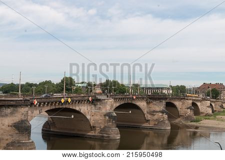 A bridge over the river the Elbe in Germany.