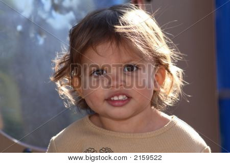 Close-Up Of A Cute Toddler
