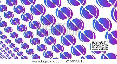 Background abstract geometric purple blue from circles and lines vector lines