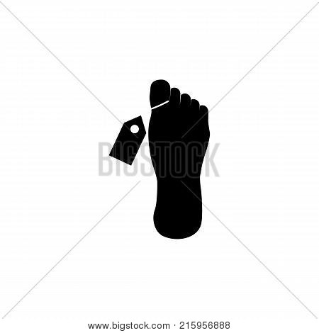 body Mortuary vector icon on white background