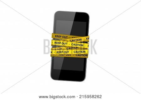 Smart Mobile Phone With Warning Tapes