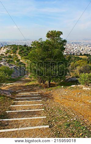 Panorama Over Athens
