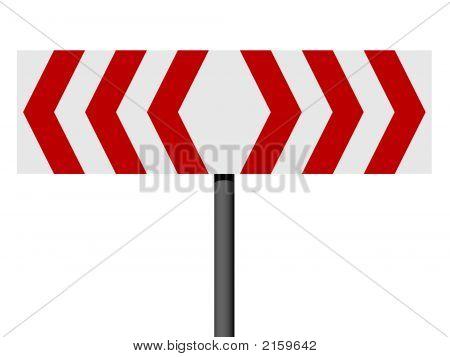 rote und weiße verschiedene Richtungszeichen