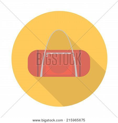 Bag vector in a flat style. Sports and school bag vector collection. Bag flat icon with long shadow.