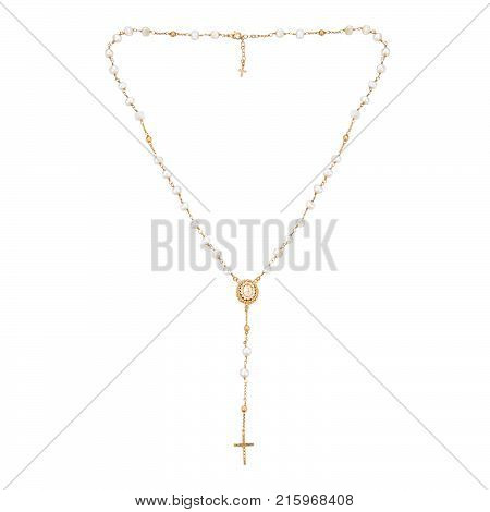 Gold Chain On A White Background