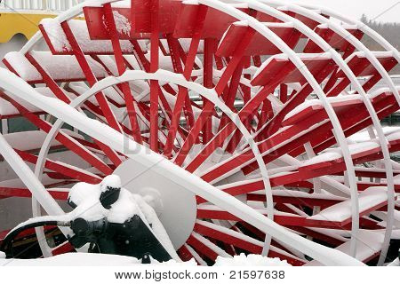 Red Paddlewheel