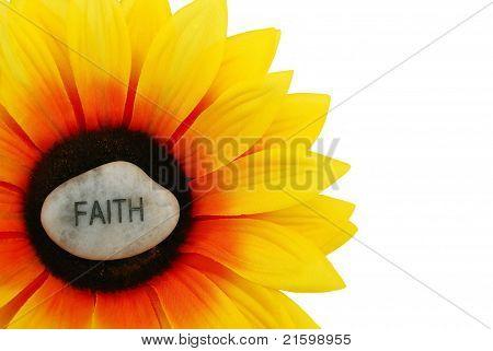 Faith Rock On Artificial Sunflower