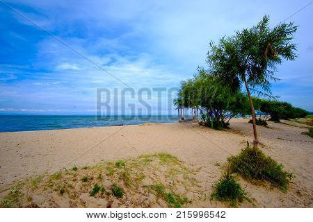 Breathtaking Views Of The Beach Of The Lake.
