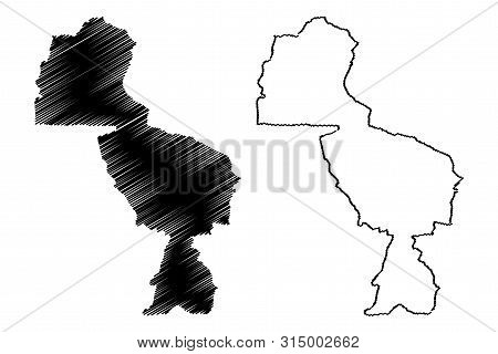 Midlands Province (republic Of Zimbabwe, Provinces Of Zimbabwe) Map Vector Illustration, Scribble Sk